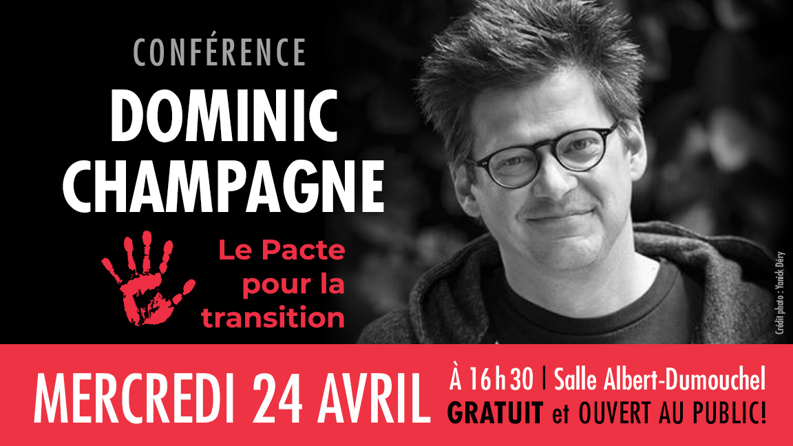 Dominic Champagne - Le pacte pour la transition
