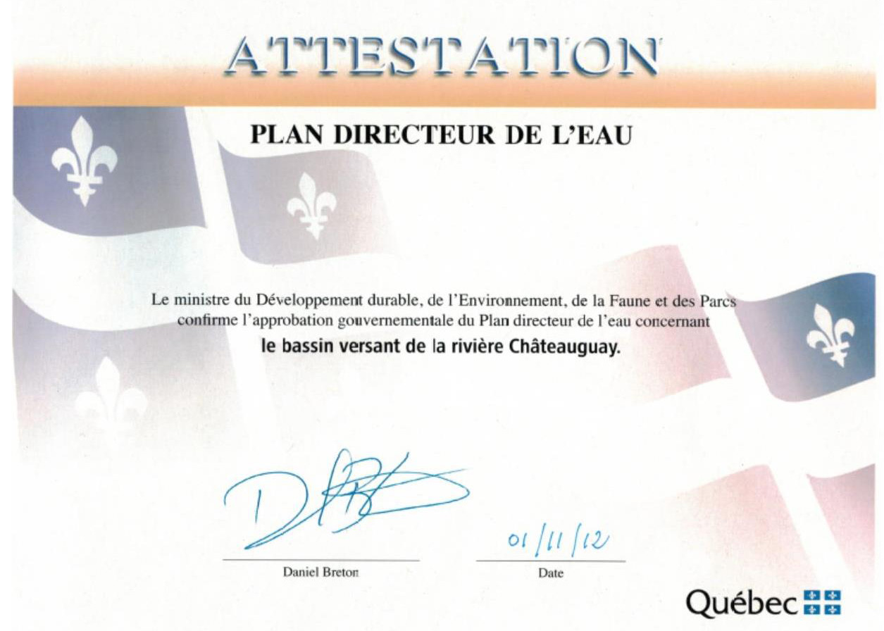 Attestation PDE